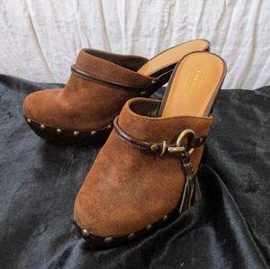 Coach heel clogs
